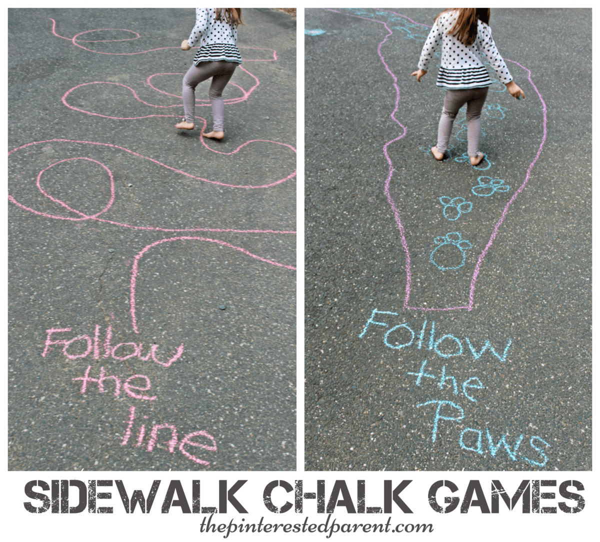 Sidewalk Chalk Games For Kids